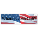 WHERE IS JOHN GALT-FLAG BUMPER STICKER from Zazzle.com