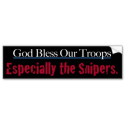 God Bless Our Troops Bumpersticker Bumper Stickers from Zazzle.com