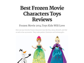 Best Frozen Movie Characters Toys Reviews