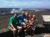Our family at Kilauea Crater in Hawaii Volcanos National Parks