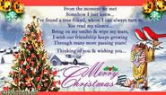 Send merry Christmas wishes to friends