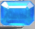 1.39ct cobalt blue natural Apatite loose gemstone