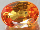 0.91Ct yellowish orange Natural Sapphire gemstone