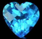 1.49 Ct. Heart Shape Checkerboard Topaz