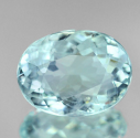 2.03 ct Oval Cut Natural Blue Aquamarine