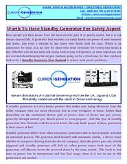 Standby Generator Differs From Other Emergency Generators