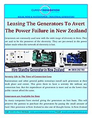 Hire Generator in New Zealand is Now Easy to Buy