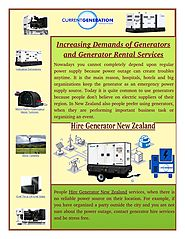 How to Find out Generator Rental Services?