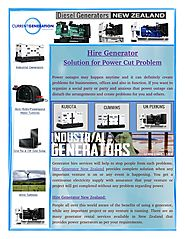 Ready to Use Hire Generators in New Zealand