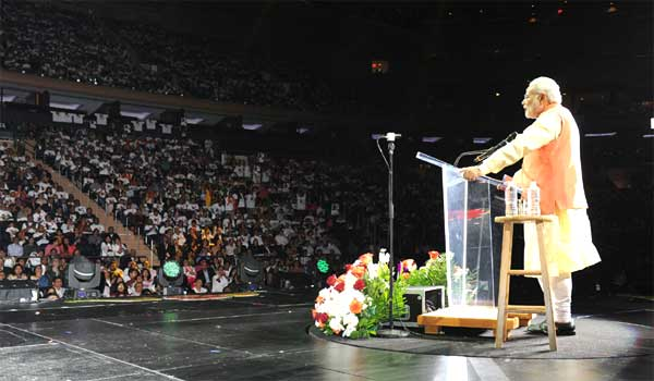Headline for Highlights from NaMo's speech at New York's Madison Square
