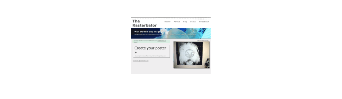 Headline for Your top tips for using @rasterbator_net #webtoolswiki