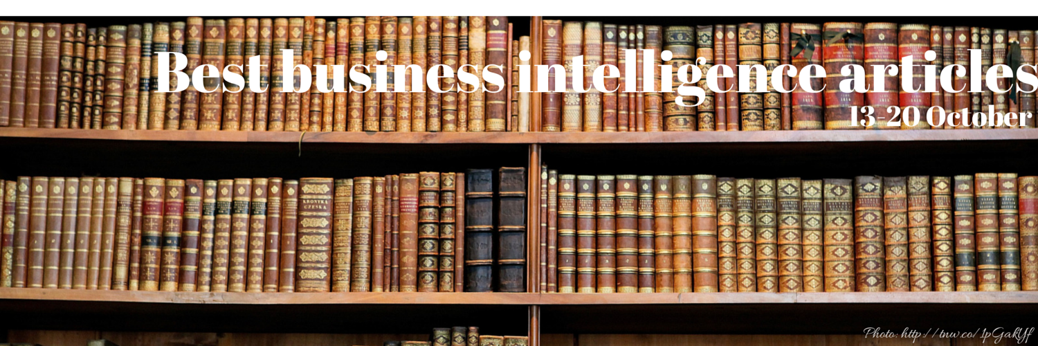 Headline for Best business intelligence articles, 13 - 20 October
