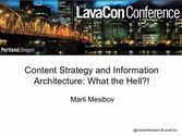 Content Strategy and IA: what the Hell?