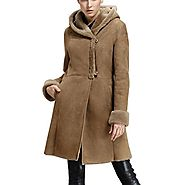 Toronto Long Shearling Coat with Hood CWMALLS