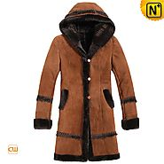 Adelaide Womens Brown Shearling Coat CW695111