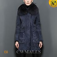 Fur Shearling Winter Coat CW605507 - cwmalls.com