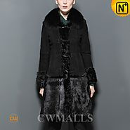 Birmingham Long Sheepskin Shearling Coat CW605501