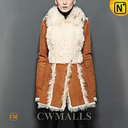 Denver Fur Trimmed Shearling Coat CW605512