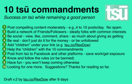 "Follow the ""ten commandments"""