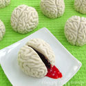 Cake Ball Brains Oozing Cherry Blood