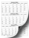 Printable 2014 Calendar Three Months Per Page