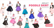 50s Poodle Skirt Costumes : Kids & Adults Poodle Skirts