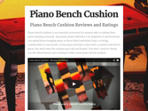 Piano Bench Cushion