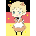 Axis Powers Hetalia Italy Brown Maid Cosplay Costume -- CosplayDeal.com