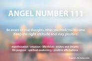 Angel Number 111 and its spiritual meaning