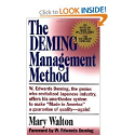 The Deming Management Method: Mary Walton, W. Edwards Deming: 9780399550003: Amazon.com: Books