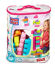 Mega Bloks DCH62 First Builders Big Building Bag, 80-Piece, Pink (Trendy)
