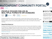 MatchPoint Community Blog - SharePoint In the Enterprise