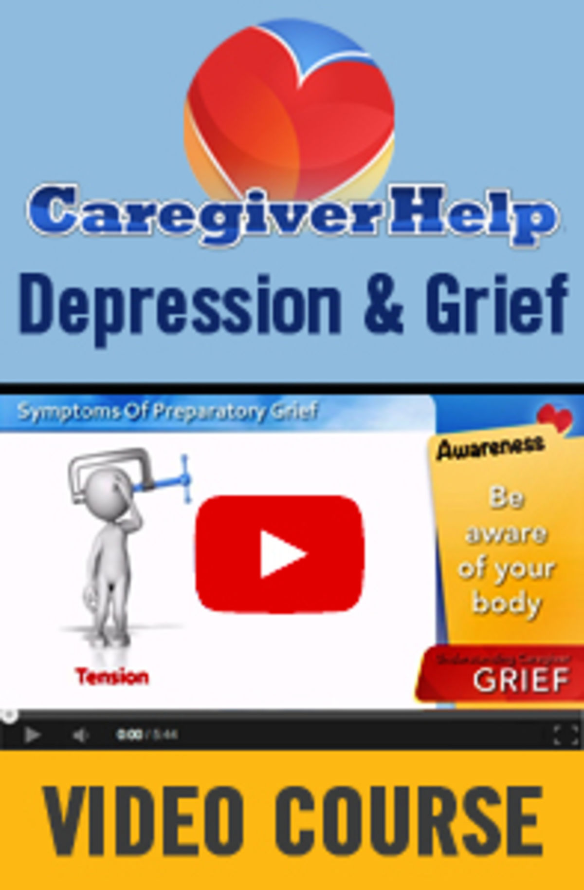 Headline for Caregiver Help Depression and Grief