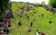 World Annual Cheese Rolling Festival; Cooper's Hill, Gloucestershire, England.
