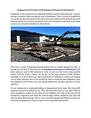 Are you searching for demolitions driveways in Christchurch