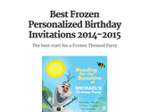 Best Frozen Personalized Birthday Invitations 2014-2015