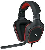 Logitech G230 Stereo Gaming Headset, PC Headset with Mic