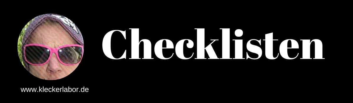 Headline for Checklisten