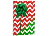 Reversible RED & GREEN CHEVRON CHRISTMAS Gift Wrap Wrapping Paper - 16ft Roll