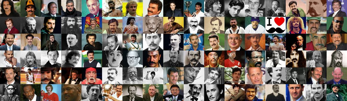 Headline for Moustaches 101 - A worldwide gallery of the Good, the Bad and the Evil. #MOVEMBER