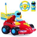 Cartoon R/C Formula Race Car Radio Control Toy for Toddlers (Assorted Colors)
