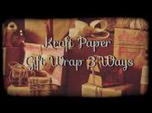 Kraft Paper Gift Wrap 3 Ways - HGTV - Weekday Crafternoon