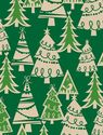 "Holiday Forest Kraft Gift Wrap Roll 24"" X 15'"