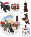 Black Lab Christmas Ornaments