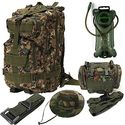 Bundle of 5 Outdoor Military Tactical Rucksack Camping Hiking Trekking Molle Backpack + Waist Pack + Waist Belt Strap...