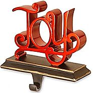 "National Tree 8 Inch Polyresin ""Joy"" Stocking Holder (RAC-E90232R)"