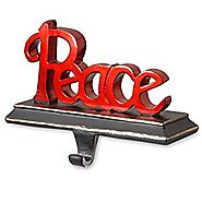 "National Tree 8.7 Inch Polyresin ""Peace"" Stocking Holder (RAC-E100486R)"