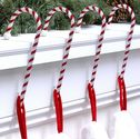 Candy Cane Stocking Holder - 4 Pack - NEW: Dark Red & White