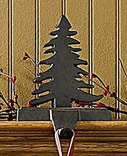 Park Designs Iron Christmas Stocking Hanger, Fir Tree