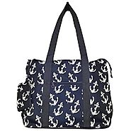 "20"" Large Roomy Tote Beach Bag w/Attached Coin Purse Printed EM4418PUB"